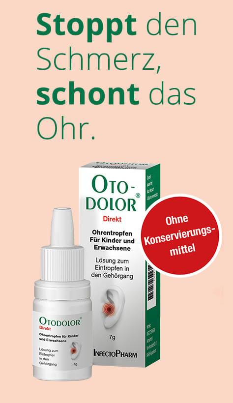 Otodolor hilft bei Ohrenschmerzen